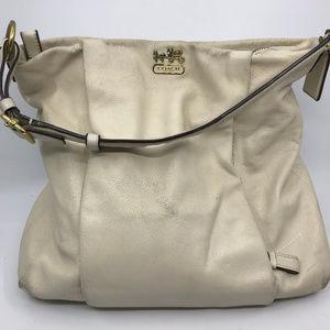COACH L White Leather Shoulder Bag